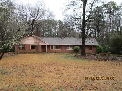Greenwood SC Single Family Home For Sale: $130,000