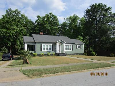 Abbeville Single Family Home For Sale: 105 Wardlaw Street