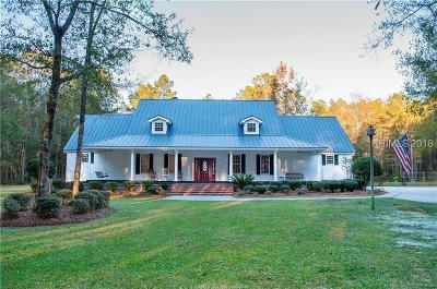 Jasper County Single Family Home For Sale: 73 School Cut Road