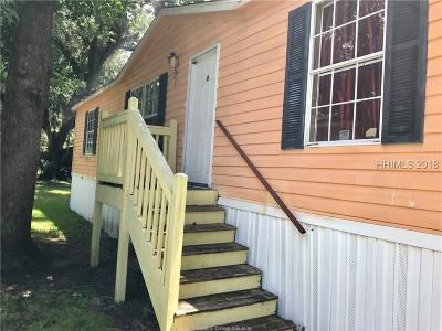 Bluffton SC Single Family Home For Sale: $159,000