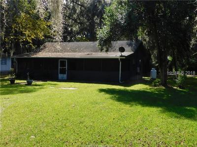 Okatie Single Family Home For Sale: 202 Chechessee Road