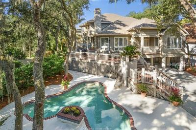 Hilton Head Island Single Family Home For Sale: 4 Lark Street