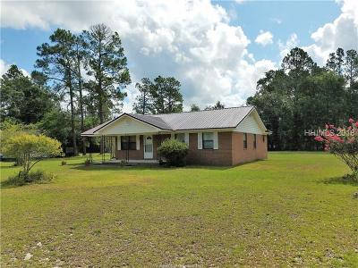 Ridgeland Single Family Home For Sale: 9532 Grays Highway
