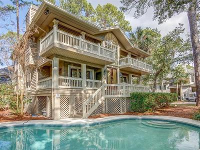 Hilton Head Island Single Family Home For Sale: 22 Green Heron Road