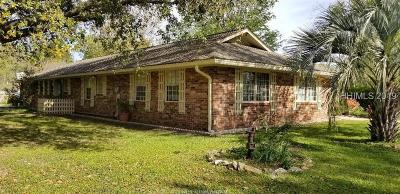 Hardeeville Single Family Home For Sale: 160 Sanders Road