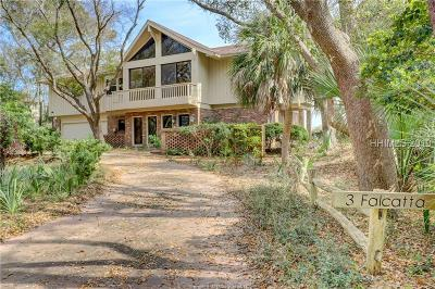Hilton Head Island Single Family Home For Sale: 3 Falcatta Road