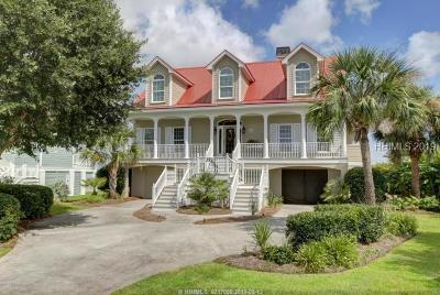 Saint Helena Island Single Family Home For Sale: 156 Harbor Drive N
