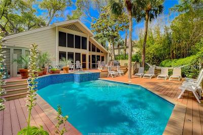 Hilton Head Island Single Family Home For Sale: 10 E Beach Lagoon Drive