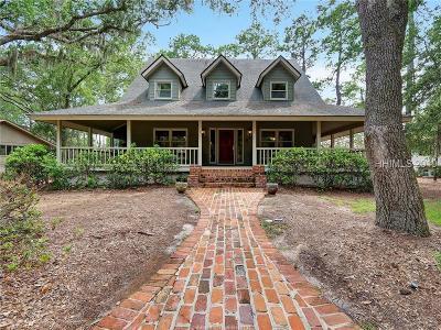 Hilton Head Island Single Family Home For Sale: 61 Deerfield Road
