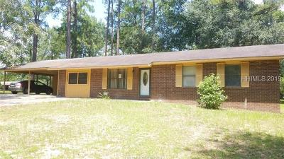 Hardeeville Single Family Home For Sale: 1662 Stiney Road