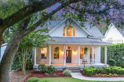 Hilton Head Island Single Family Home For Sale: 8 Mossy Oaks Lane