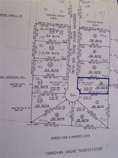 Residential Lots & Land Uc/Show For Back Up: Lot 6 Donovan Grove Road