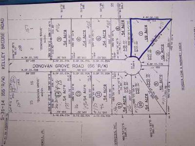 Residential Lots & Land Uc/Show For Back Up: Lot 7 Donovan Grove Road