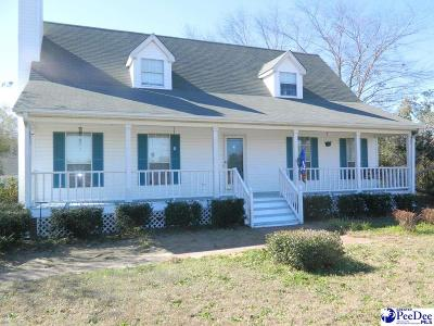 Timmonsville Single Family Home For Sale: 1232 S Sansbury Road