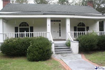 Timmonsville Single Family Home Uc/Show For Back Up: 2617 Cale Yarborough Hwy.