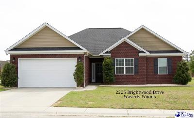 Single Family Home Sold: 2225 Brightwood Drive