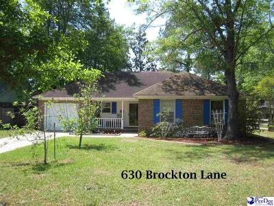 Florence Single Family Home For Sale: 630 Brockton Lane
