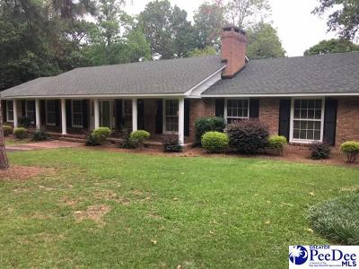 Hartsville Single Family Home Active-Price Change: 2128 W Carolina