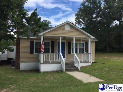 Hartsville Single Family Home Uc/Show For Back Up: 2165 W Old Camden