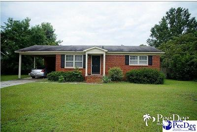 Florence SC Single Family Home Uc/Show For Back Up: $89,900