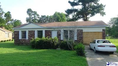 Marion SC Single Family Home For Sale: $41,500