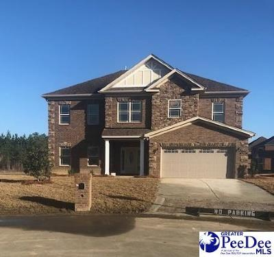 Florence SC Single Family Home Uc/Show For Back Up: $298,090