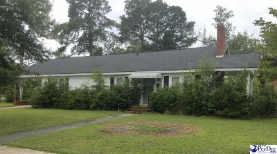 Hartsville Single Family Home For Sale: 408 Coker Ave