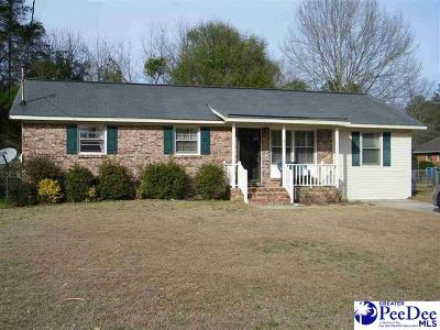 Florence SC Single Family Home For Sale: $102,900