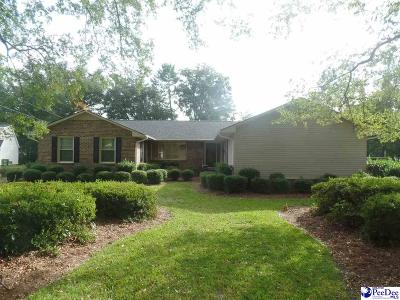 Hartsville Single Family Home For Sale: 205 Dahoon Ln