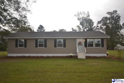 Timmonsville Single Family Home Uc/Show For Back Up: 4326 Gaymon Road