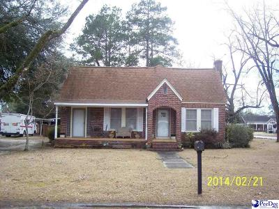 Dillon SC Single Family Home For Sale: $99,500