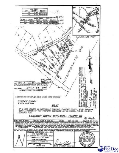Timmonsville Residential Lots & Land For Sale: 4 Acres Timmons Rd