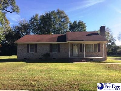 Bennettsville Single Family Home For Sale: 109 Robeson St