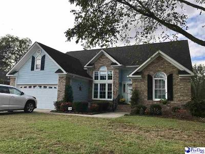 Florence SC Single Family Home Uc/Show For Back Up: $219,900