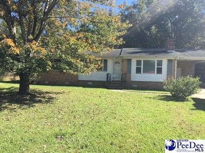 Florence SC Single Family Home Uc/Show For Back Up: $30,000