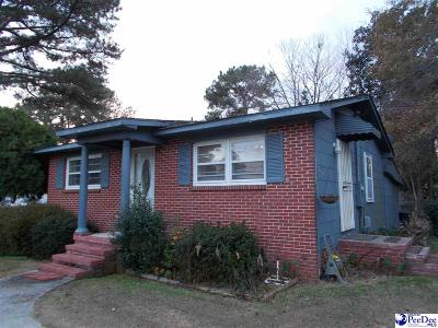 Hartsville Single Family Home For Sale: 1900 Blanding Dr