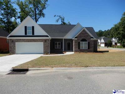 Florence SC Single Family Home Uc/Show For Back Up: $242,900
