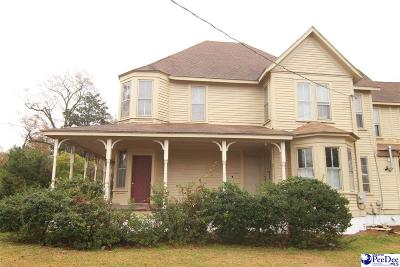 Dillon SC Single Family Home For Sale: $89,000