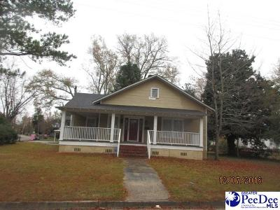 Marion SC Single Family Home For Sale: $38,000