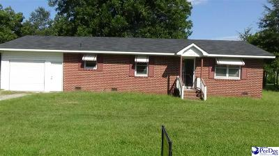Hartsville SC Single Family Home Sold: $20,000