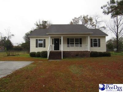 Florence SC Single Family Home For Sale: $92,000