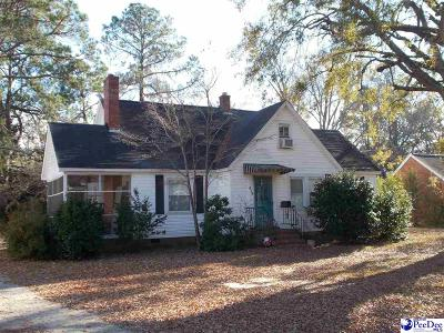 Hartsville Single Family Home For Sale: 519 W Carolina Ave