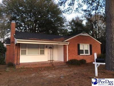 Hartsville Single Family Home Uc/Show For Back Up: 105 Lamar Street
