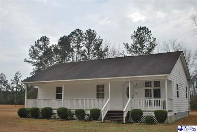 Timmonsville Single Family Home Uc/Show For Back Up: 3149 Donna Ellis Lane