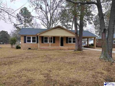 Florence SC Single Family Home For Sale: $109,900