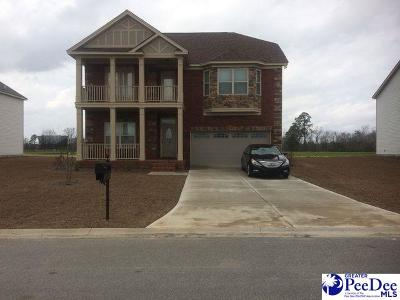 Florence SC Single Family Home Uc/Show For Back Up: $219,990