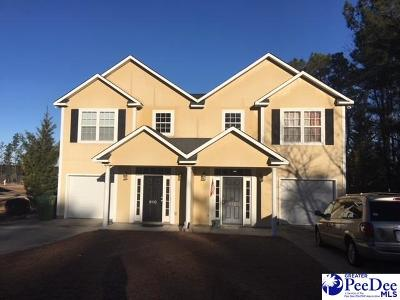 Hartsville SC Multi Family Home Uc/Show For Back Up: $190,000