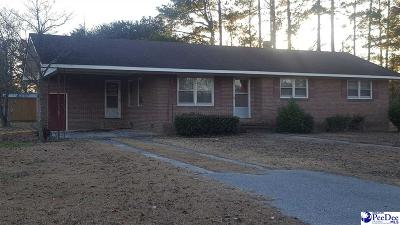 Dillon SC Single Family Home For Sale: $85,000