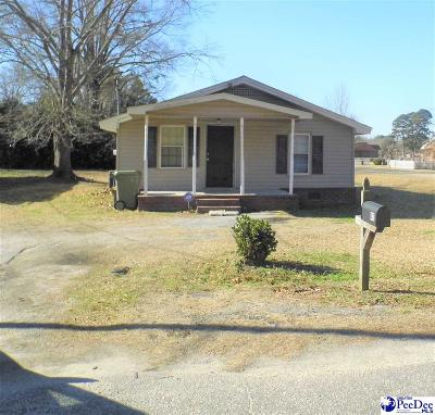 Dillon SC Single Family Home For Sale: $45,000