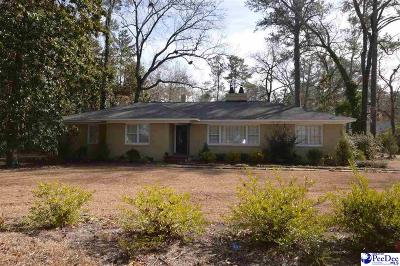 Hartsville SC Single Family Home Back On Market: $267,750